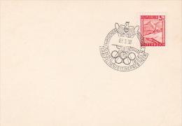 Austria 1958 Olympic Biathlon, Shooting, Souvenir Cover - Shooting (Weapons)