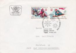 Austria 1976 Innsbruck Olympics, Souvenir Cover - Skiing