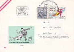 Austria 1976 Innsbruck Olympics, Figure Skating, Souvenir Cover - Skateboard