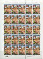 TH1038 Thailand 1993 Makha Bucha Day Sheet 25v MNH - Thaïlande