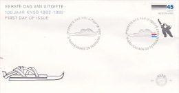 Netherlands 1982 Centenary KNSB  FDC - Skiing