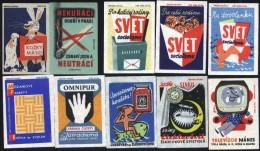 10 Old Matchbox Labels   From Czechoslovakia Lot 1047 - Boites D'allumettes - Etiquettes