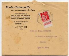 1933 - LETTRE De L´ECOLE UNIVERSELLE PAR CORRESPONDANCE De PARIS (+ BELLE CORRESPONDANCE) Avec BANDE PUBLICITAIRE / PUB - Ireland