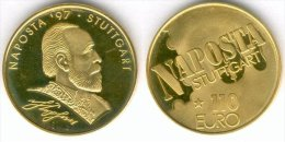 110 EURO Goldmünze, Temporaire Precurseur STUTTGART (Naposta) 1997, RRRR, UNC, Or, Gold 333, Ca. 4,5 G - Germany