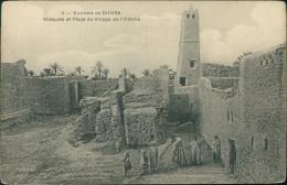 ALGERIE  BISKRA / Mosquée Et Place Du Village De Fillièche / - Biskra