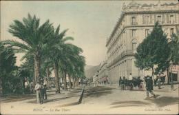 ALGERIE  BONE / La Rue Thiers / CARTE COULEUR TOILEE - Autres Villes