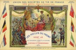 UNION DES SOCIETES DE TIR DE FRANCE  LES POILUS DU FRONT WW1 - Quiberon