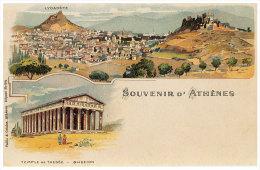 Greece  (REPRINT) - Athenes - SOUVENIR D'ATHENES -  Temple De Thesee - - Griekenland