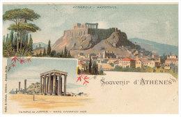 Greece  (REPRINT) - Athenes -  SOUVENIR D'ATHENES -  Temple De Jupiter - - Greece