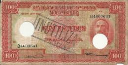 MOZAMBIQUE 100 ESCUDOS 1958  VG+ P 107 - Mozambique