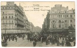 """""""Bruxelles - Place De La Bourse Et Boulevard Anspach"""" - Places, Squares"""