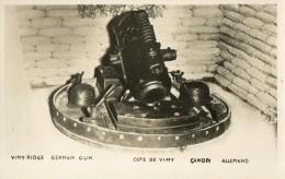 WW1 COTE DE VIMY VIMY RIDGE GUN CANON ALLEMAND CARTE PHOTO - Guerra 1914-18