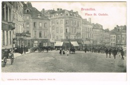 """""""Bruxelles - Place Sainte Caterine Et La Tour Noire"""" - Places, Squares"""