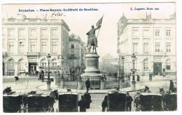 """""""Bruxelles - Place Royale - Godefroid De Bouillon"""" - Places, Squares"""