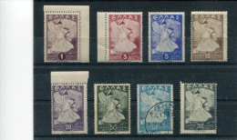 """1945-Greece- """"Glory"""" Complete Set MNH Toned Gum (except 3drs.+5drs.) [100drs. Used] - Nuovi"""