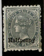 NEW SOUTH WALES 1891 ½d On 1d SG 266 MOUNTED MINT Cat £4.50 - Nuevos