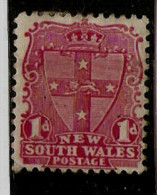 NEW SOUTH WALES 1897 1d ROSE-CARMINE DIE II SG 290a LIGHTLY MOUNTED MINT Cat £3.75 - Nuevos