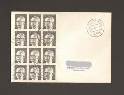 BRD Heinemann 5 Pfg. Mi.Nr.635 12er Block Auf Portogerechtem Fernbrief Von 1981 Aus Detmold - [7] République Fédérale