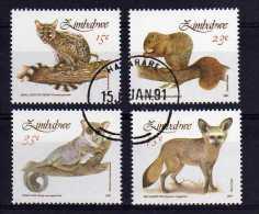 Zimbabwe - 1991 - Small Mammals - Used/CTO - Zimbabwe (1980-...)