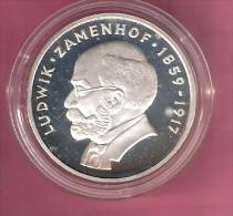 POLEN 100 ZLOTYCH 1979 AG PROOF LUDWIK ZAMENHOF - Poland