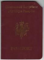 France 1995 Passport Reisepass Passeport Pasaporte #91AE52639 - Historical Documents