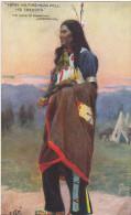 22664 INDIENS - ETATS-UNIS CANADA Song HIAWATHA Longfellow From Forehead Fell Tresses-oilette 9011 S 11 -amerique Indien - Indiens De L'Amerique Du Nord