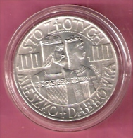 POLEN 100 ZLOTYCH 1966 AG PROBA KING AND QUEEN MIESZKO DABROWKA - Pologne