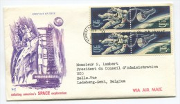 Space 1967 FDC With Accompagning Letter Send To Belgium !! - See 2 Scans ! - Sobre Primer Día (FDC)