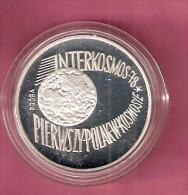 POLEN 100 ZLOTYCH 1978 AG  PROBA GLOBE INTERKOSMOS