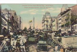 22683 Montreal, Quebec - Place Jacques Cartier Jour Du Marchemarket Day -European Post Card 2050 Montreal -attelage - Montreal