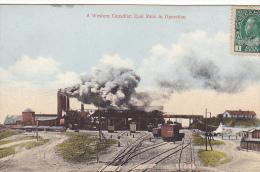 22684 CANADIAN WEST SERIES NO. 2 WESTERN CANADA COAL MINE In Operation -chemin Fer Train Usine