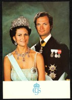 SVEZIA - MAXI POST CARD -  ROYAL WEDDING - 19-06-1976 - KING CARL XVI GUSTAF AND H.M. DROTTNING SILVIA - Case Reali