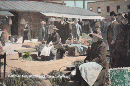 22687  MONTREAL Habitant Life Bonsecours Market - Valentine Soas- Vendeuse Poireau ? Legume