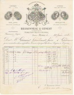 ETABLISSEMENT  BESSONNEAU & GENEST à ANGERS   1882 - France