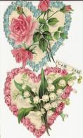 2 COEURS AVEC MUGUET ET ROSES / L&B 3986 - Flowers