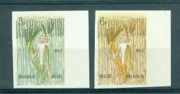 BELGIE - OBP Nr 1251/1252 - ONGETAND/NON-DENTELE (met Nummer) - PAX - MNH**  - Cote 30,00 € - Belgique
