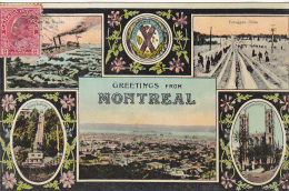 22695 CANADA Quebec Montreal -Greetings From -Novelty Mfg -toboggan Incline Railway Rapida