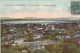 22699 CANADA Quebec Montreal - Bird's-eye View , Vue A Vol D'oiseau , European Post 2011 ! Pliure !