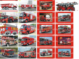 A04381 China Phone Cards Fire Engine Puzzle 80pcs - Firemen