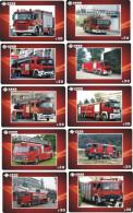 A04382 China Phone Cards Fire Engine 20pcs - Firemen