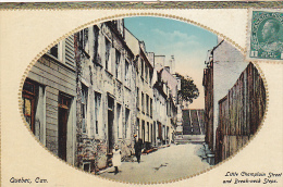 22701 CANADA Quebec Little Champlain Street And Break-neck Steps  -Novelty Mfg 731