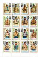 Manama. Bloc De Timbres Scoutisme : Feuille De 16 Timbres, Scouts De Différents Pays. - Ascension (Ile De L')