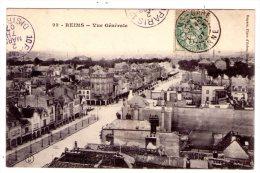 Reims  - Vue Générale - Scan Recto-verso - Reims