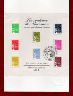 """(Faciale = 6.89 €)  """" LES MARIANNE DES FRANCAIS """" Sur Notice Officielle 1er Jour De 2004 . N° YT BF 67. - 2000-2009"""