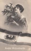 Photocarte Allemande- Patriote -Deutsche Weihnachtsgrüsse 1915 (guerre14-18)2scans TBE - War 1914-18