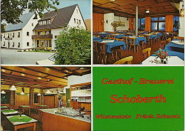 Postkarte Wiesenttal OT Wüstenstein Gasthof & Brauerei Schoberth Mehrbild 1979 #1976 - Forchheim