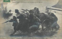 Réf : A-14-0885 : Salon De 1908 Le Désarmement Du Bateau Par G. Balande - Ansichtskarten