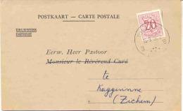 RILLAAR-SPECIALE POSTKAART-VERSTUURD NAAR KAGGEVINNE-PASTOOR-WILLEMS-1956-BEVESTIGING DOOPSEL-TIMMERMANS BEN-ZIE 3 SCANS - Aarschot