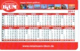 BRD Mannheim Taschenkalender 2011 Blum Reisebüro Leuchtturm Meer Kolosseum Rom - Calendars