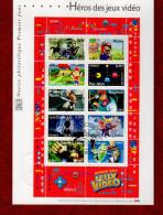 """Notice Officielle 1er Jour De 2005 """" LES JEUX VIDEO LARA CROFT PAC MAN SIMS MARIO LINK.."""". N° YT BF 91 - Documents Of Postal Services"""